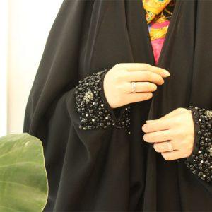 چادر عبای عربی سنگدوزی
