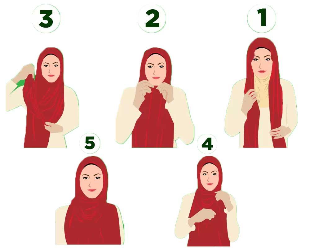 مدل بستن روسری ساده