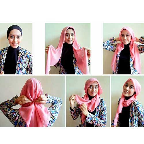 مدل بستن روسری حریر