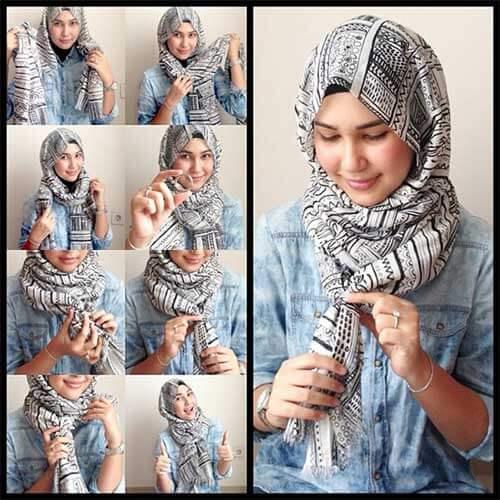 مدل بستن روسری زیر چادر