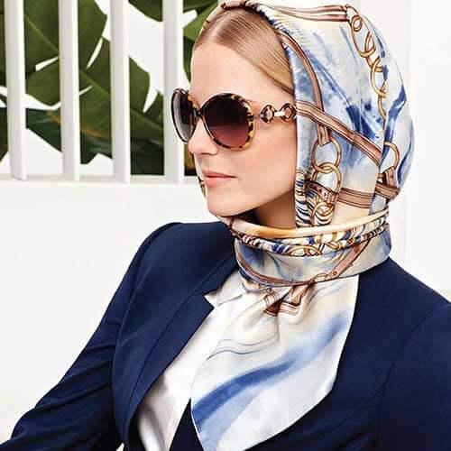 مدل بستن روسری شیک