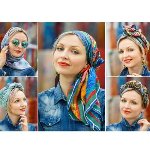مدل بستن روسری لاکچری