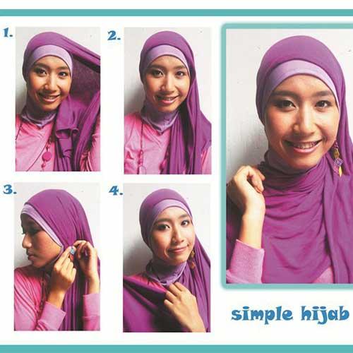 مدل بستن روسری دخترانه